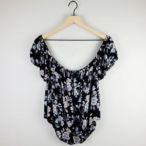 American Eagle Floral Off the SHoulder Top Small